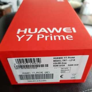 Bnib huawei Y7 Prime 32gb