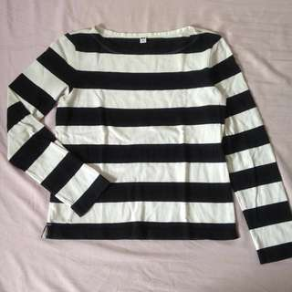 UNIQLO Striped Long Sleeves Top