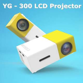 YG300 YG - 300 LCD Projector 600LM 1080P Mini Portable HD Movie LCD Projector For Home Cinema Media Player