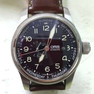 ORIS automatic black dial leather strap 43mm