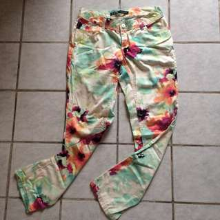Zara flower pants