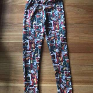 superhero comic leggings (price negotiable)