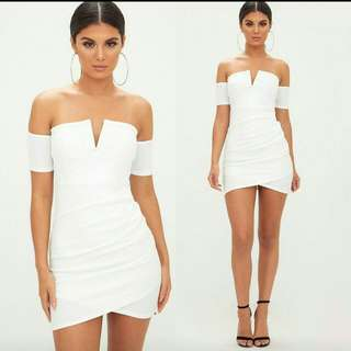 Sophisticated White Dress (Not Padded)