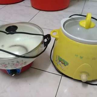 Cooking pot and slow cooking pot