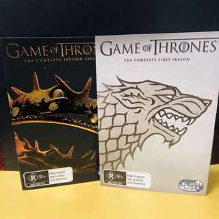 GAME OF THRONES BOX SETS 1 & 2