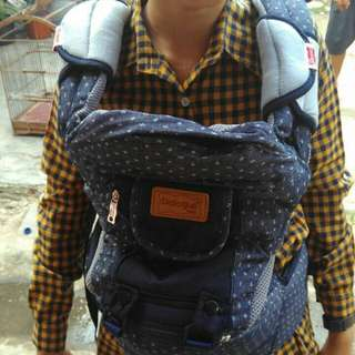 Dialogue Baby Gendongan Hipseat Denim bintik