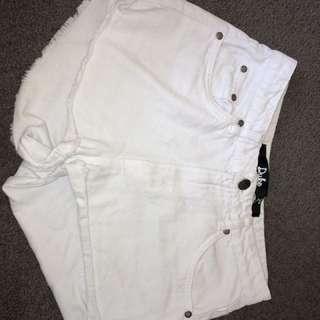 White Factorie denim shorts