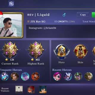 Mobile Legend Account (IOS) - Mythical Glory