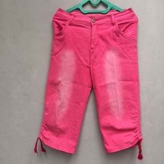 Celana jeans 7/8 col pink