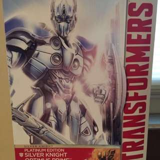 Transformers Age of Extinction Platinum Edition Silver Knight Optimus Prime