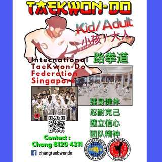 Taekwondo Class / 跆拳道班 @ Choa Chu Kang