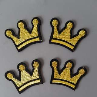 Quality Crown Iron On Patch