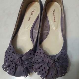 麂皮真皮紫色浪漫鞋