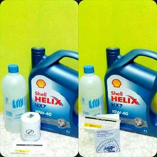 Engine Oil Shell Helix HX7 ( Minyak Hitam)