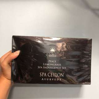 INSTOCK Spa Ceylon Ayurveda peace lemongrass spa indulgence set