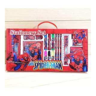 Brand New Christmas Xmas Gift Set Spiderman Stationery Gift Box Set 10 in 1 Primary school kindergarten children kids learning gifts Birthday party