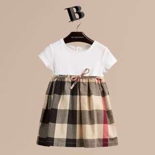 BNIB Genuine Burberry Children Girl's Dress for 3 years