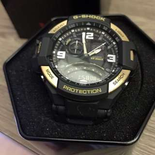 Black & Gold G shock men's watch GA1000, authentic !