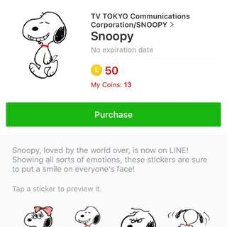STICKERS SNOPY ON SALE