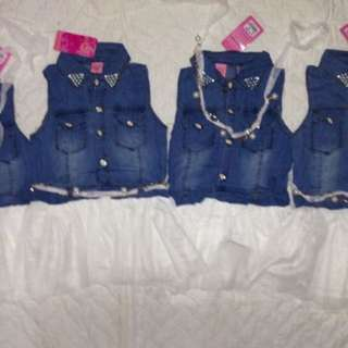 Tutu denim dress 2-5yo brand new