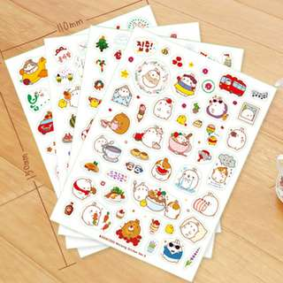 Molang Holidays Fun Scrapbook / Planner Stickers #51