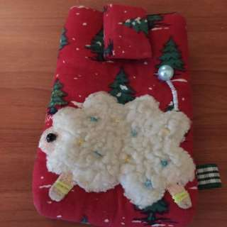 Adorable Christmas themed Sheep Pouch with Velcro closure!