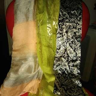 異國風絲質圍巾