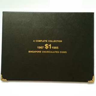 Set of Singapore $1 Lion Coin 1967 to 1985