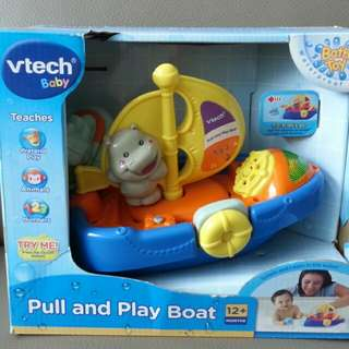 Vtech pull and play boat 沖涼船仔