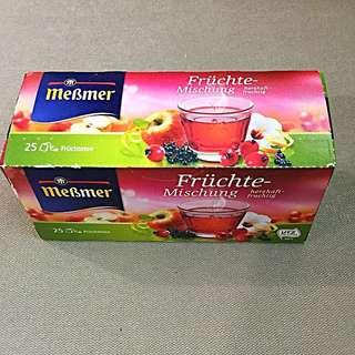 德國mebmer綜合水果茶.聞的到水果的香氣喔!冬天到了!該喝熱茶了!25包裝