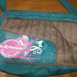 JELLYBEANS blue green shoulder/cross body bag
