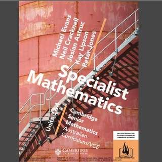 Cambridge Specalists Maths 3/4 PDF file