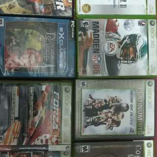 Assorted XBox, XBox 360, PC Games