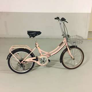 Female Foldable Bicycle with Free Combination lock