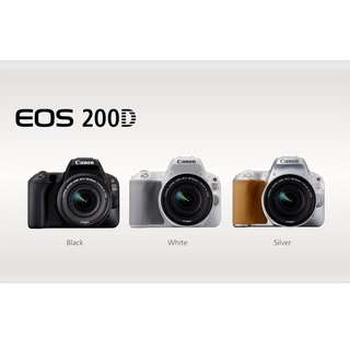 Brand New Canon EOS 200D DSLR Camera + EF-S 18-55mm f/3.5-5.6 IS STM Lens (Canon Malaysia)