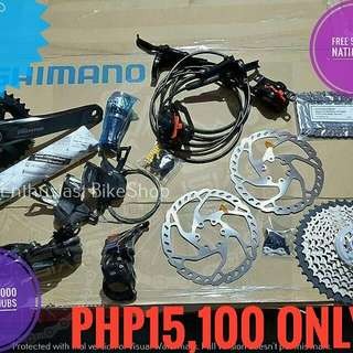 Brand New Shimano Groupset Deore M6000 WITHOUT HUBS