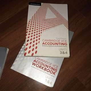 VCE ACCOUNTING Units 3&4 Cambridge third edition Textbook