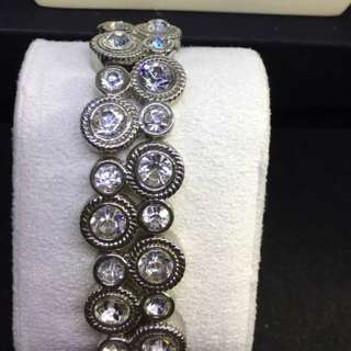1940's sparkling diamente Rhinestones bracelet