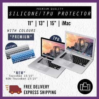 🔅cT🔅 MacBook Mac Apple keyGuard keyboard protector guard tpu and silicone case pro case guard laptop colour transparent