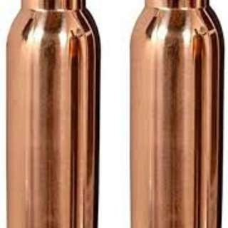 100% COPPER BOTTLE, SEAMLESS (joint free), GURANTEED LEAK PROOF, Can Contain 900mls Of Water