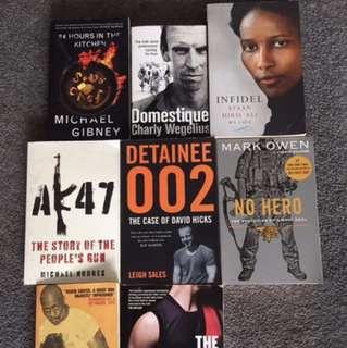 Books - Non fiction, Biographies