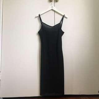 Sheer Black Vintage Slip Dress