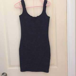 Bardot navy stripe bodycon dress 8