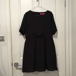 Plain Black Skater Dress size 12