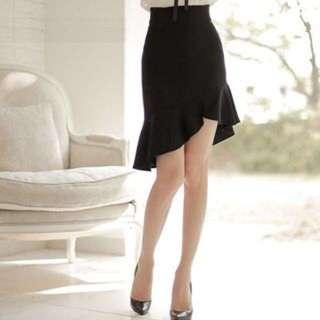 Ruffled Skirt (black)