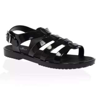 Jelly Sandals (black size 6)