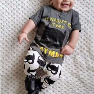 "Baby Terno/Kids Terno ""Batman"""