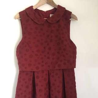 Karen Walker cute Peter Pan collar dress size 12