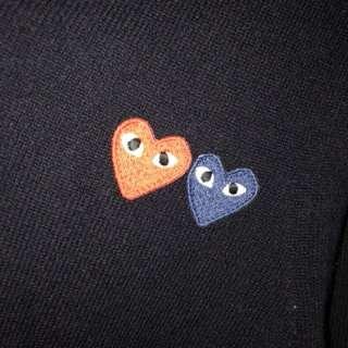 Comme Des Garçon Double-heart V-neck sweater (CDG)