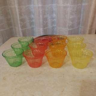 紅A七彩啫喱杯